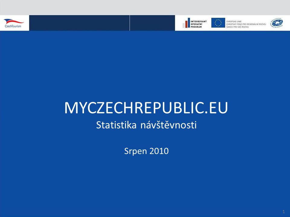 MYCZECHREPUBLIC.EU Statistika návštěvnosti Srpen 2010 1
