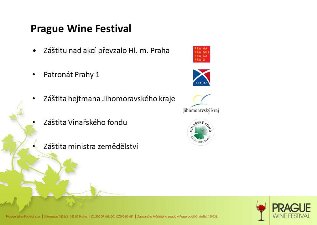Prague Wine Festival - koncept Vína budou prezentovat sami vinaři, kteří svým vínům nejlépe rozumí, a to na 60 – 80 samostatných stáncích Vína budou moci návštěvníci v místě nejen ochutnat, ale také zakoupit Prezentace vín bude doplněna o gastronomii, která k vínu neodmyslitelně patří, a to jak gastronomii českou, tak evropskou –kozí, ovčí i kraví sýry –klobásky, grilovaná masa –koláčky a další delikatesy