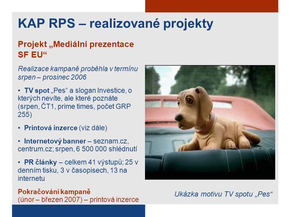 """KAP RPS – realizované projekty Projekt """"Mediální prezentace SF EU Printová inzerce 31 inzerátů v celostátních denících a týdenících general interest prezentovány projekty Terminál letiště Brno (OP Infrastruktura), Sedlčanskem na kole (SROP), Nejste na to sami (JPD) srpen-září Ukázka printové inzerce: Sedlčanskem na kole (SROP)"""