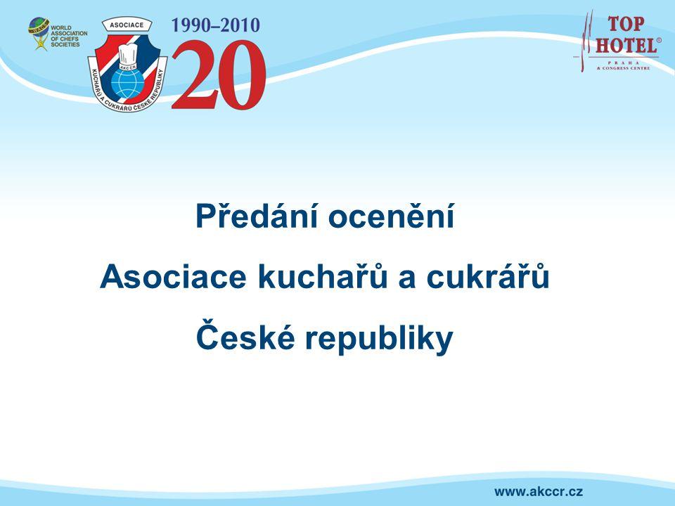 Předání ocenění Asociace kuchařů a cukrářů České republiky