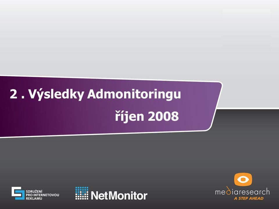 13 © Mediaresearch, a.s., 2008 2. Výsledky Admonitoringu říjen 2008