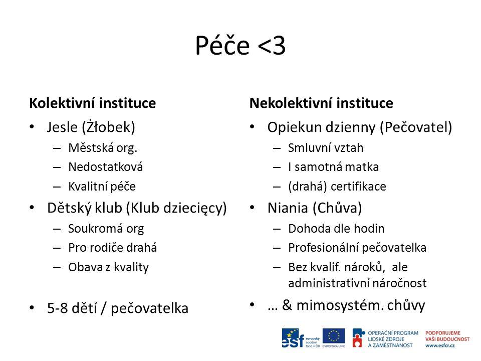 Péče <3 Kolektivní instituce Jesle (Żłobek) – Městská org.