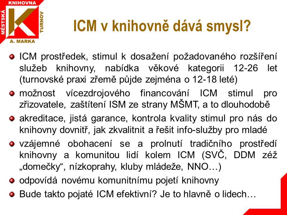 ICM v knihovně dává smysl.