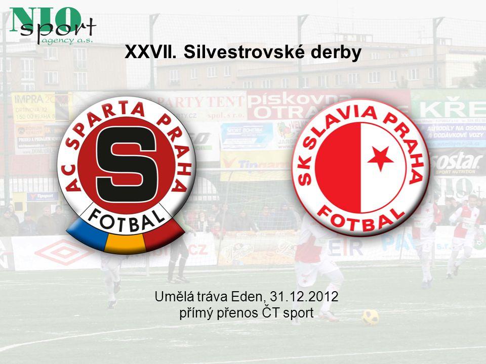 XXVII. Silvestrovské derby Umělá tráva Eden, 31.12.2012 přímý přenos ČT sport