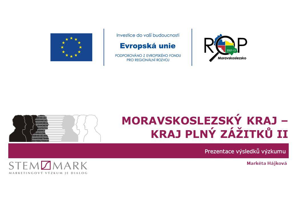 Prezentace výsledků výzkumu MORAVSKOSLEZSKÝ KRAJ – KRAJ PLNÝ ZÁŽITKŮ II Markéta Hájková