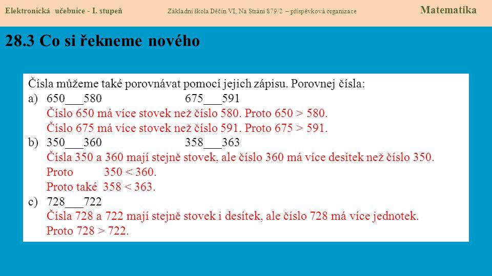 28.4 Procvičení Elektronická učebnice - I.