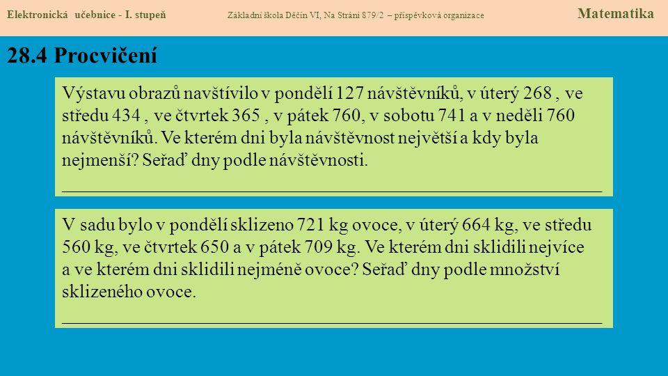 28.5 Procvičení Elektronická učebnice - I.