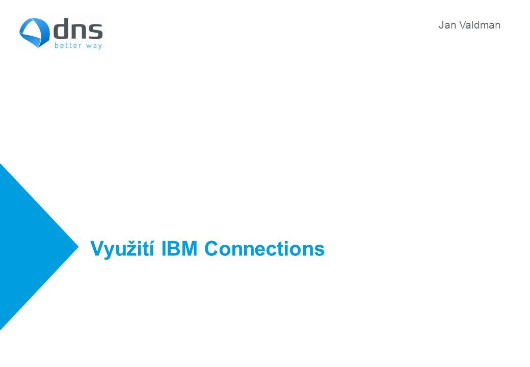 Využití IBM Connections Jan Valdman