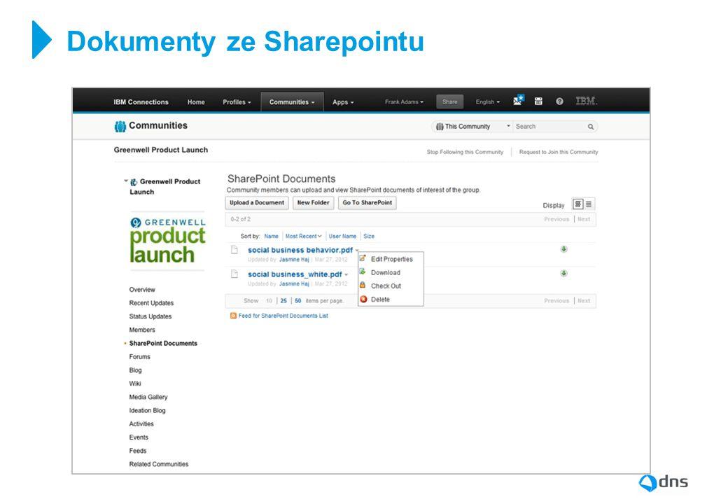 Dokumenty ze Sharepointu