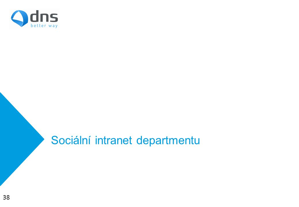 Sociální intranet departmentu 38