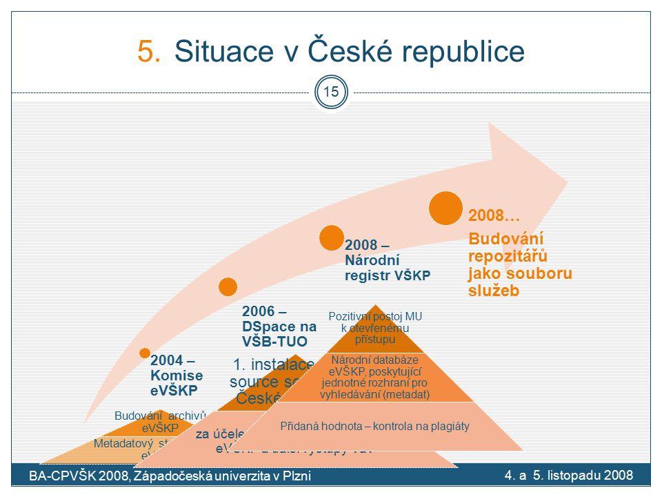 5.Situace v České republice 4. a 5.