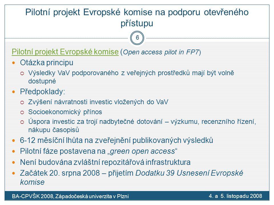 DRIVER Digital Repository Infrastructure Vision for European Research První fáze: 6/2006 – 11/2007 Druhá fáze: 12/2007 – 11/2013 Podporován 7.
