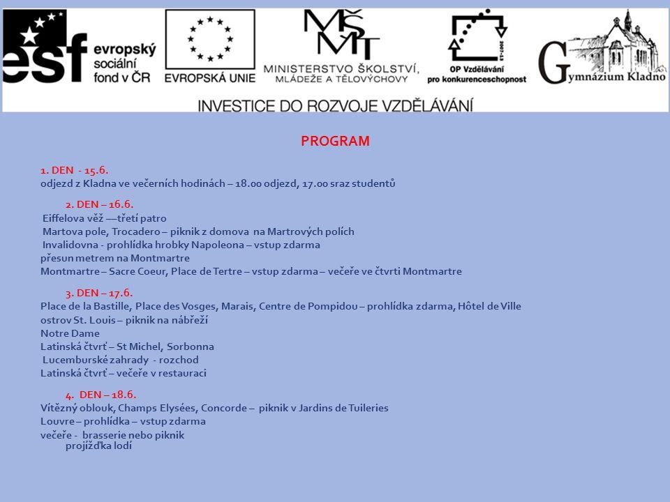 PROGRAM 1. DEN - 15.6.