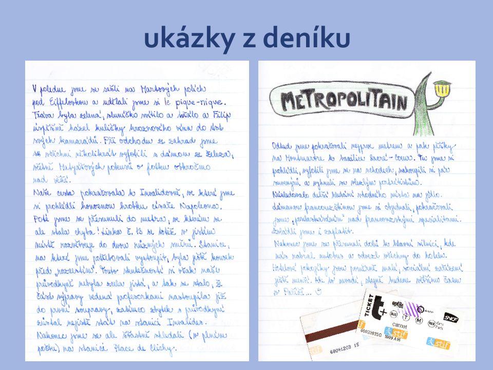 ukázky z deníku