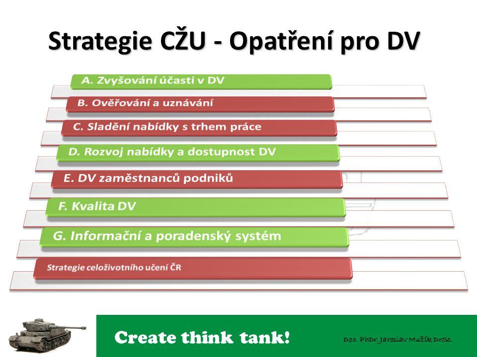 Create think tank! Doc. PhDr. Jaroslav Mužík DrSc. Strategie CŽU - Opatření pro DV 7