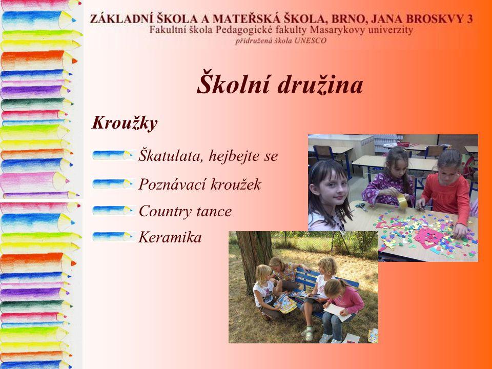 Školní družina Kroužky Škatulata, hejbejte se Poznávací kroužek Country tance Keramika