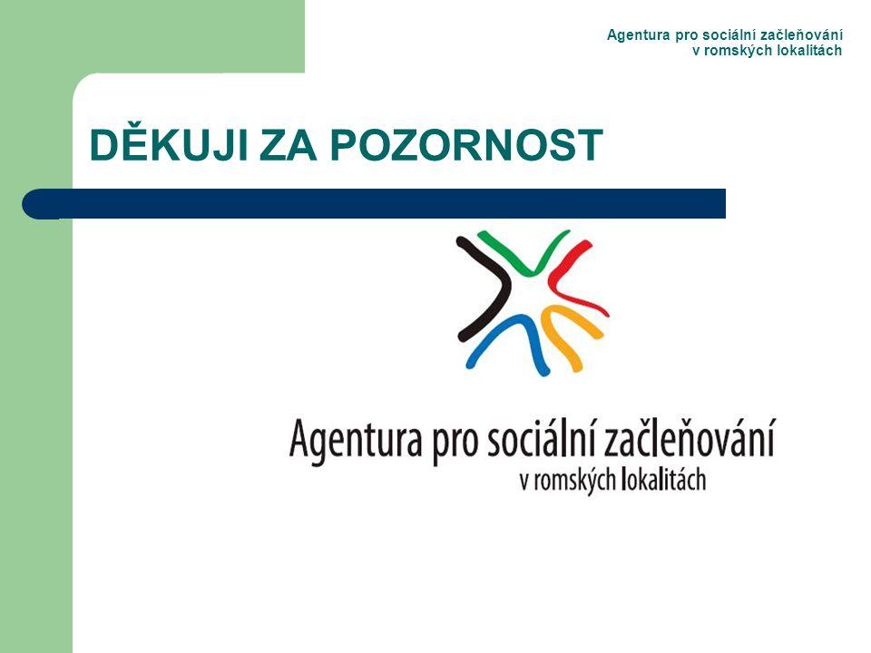 Agentura pro sociální začleňování v romských lokalitách DĚKUJI ZA POZORNOST