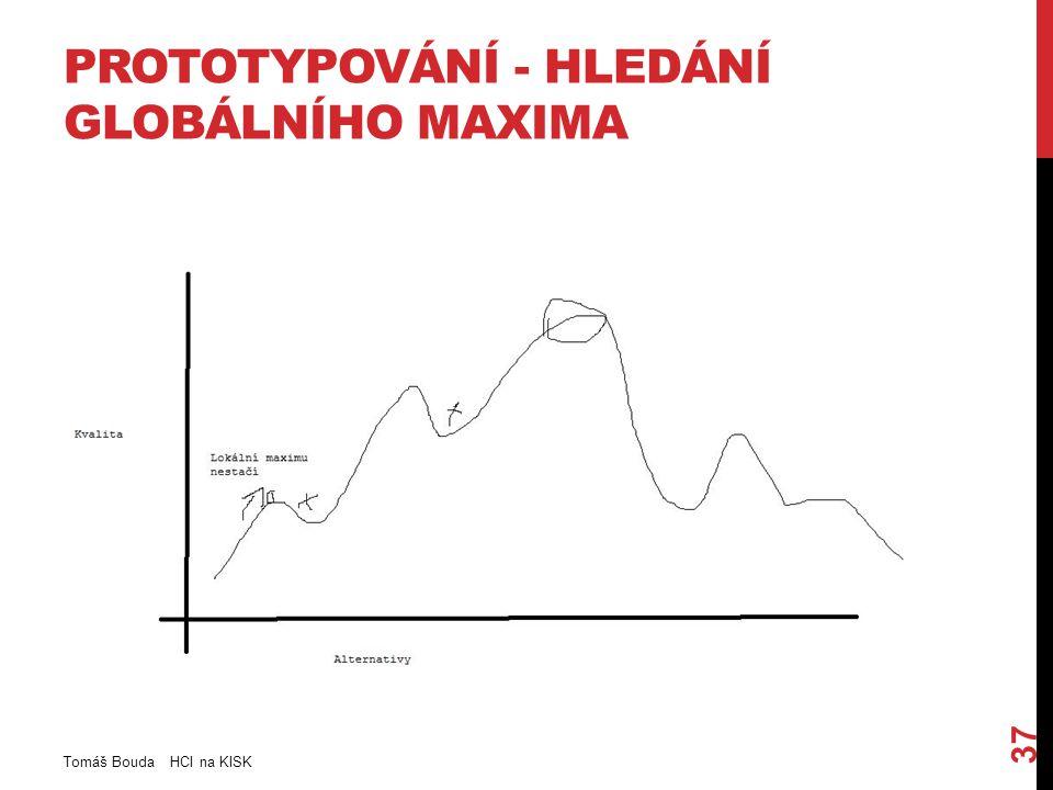 PROTOTYPOVÁNÍ - HLEDÁNÍ GLOBÁLNÍHO MAXIMA Tomáš Bouda HCI na KISK 37