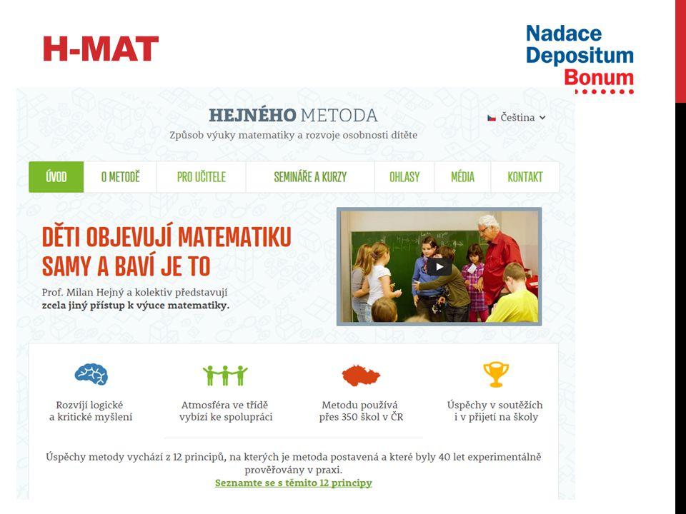 H-MAT Trénink lektorů Vývoj a pilotování učebnic na 2.