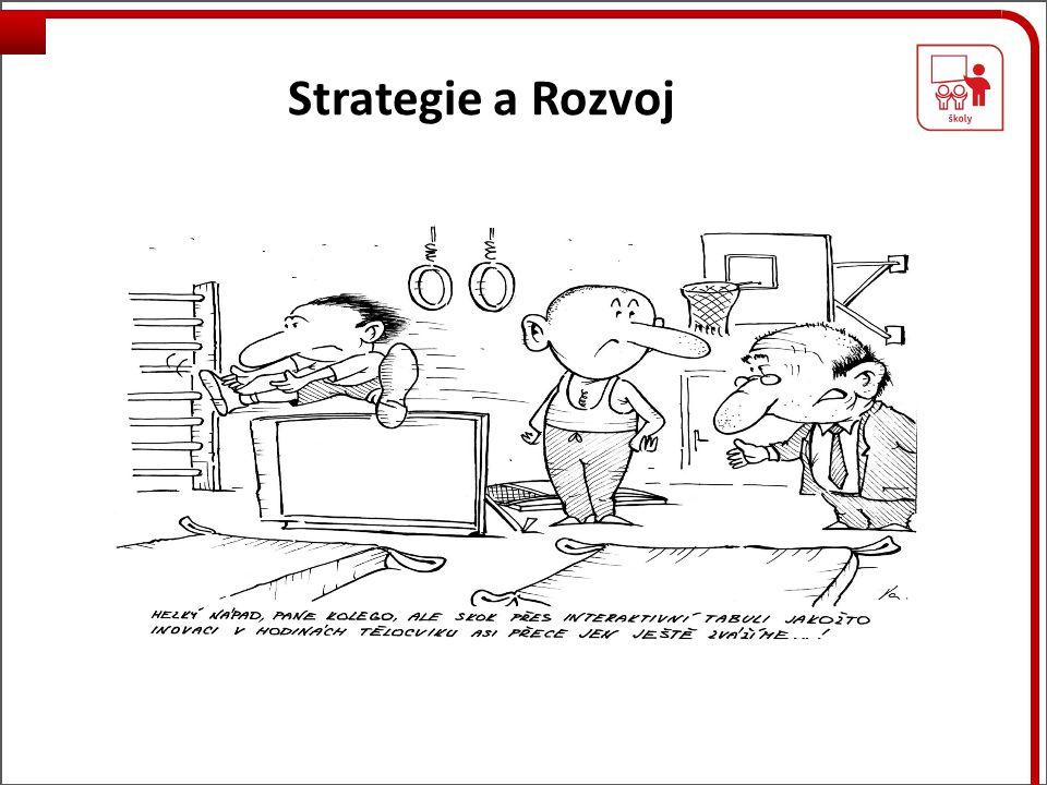 Strategie a Realizace Mají jasnou profilaci škol, kterou realizují Není rozdíl ve strategii, ŠVP, ale v realizaci Mají několikaleté (4 leté) plány a ty realizují Nerozptylují se módními vlivy a výstřelky Ředitelé jsou budovatelé, Lídři 5 úrovně!