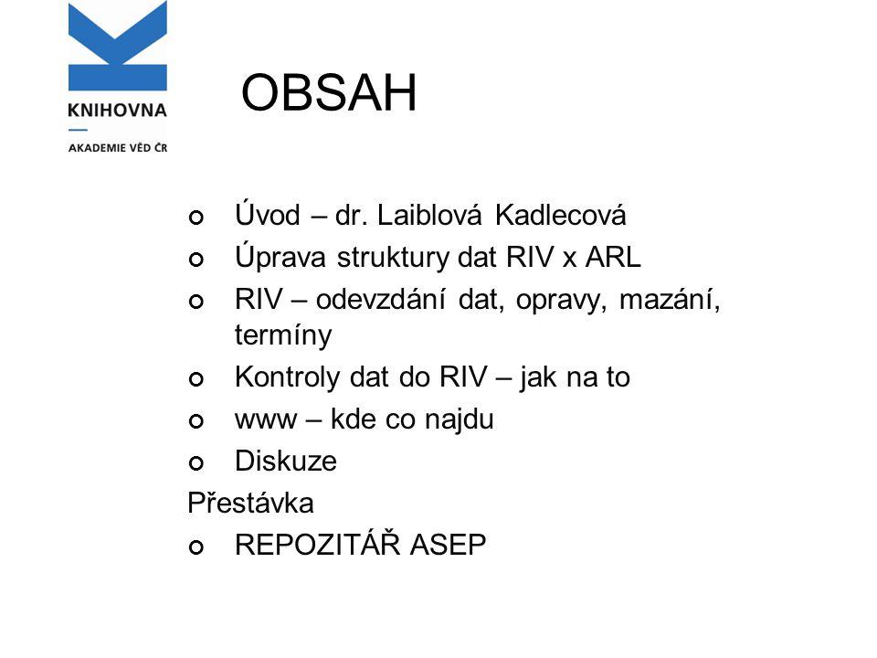OBSAH Úvod – dr.