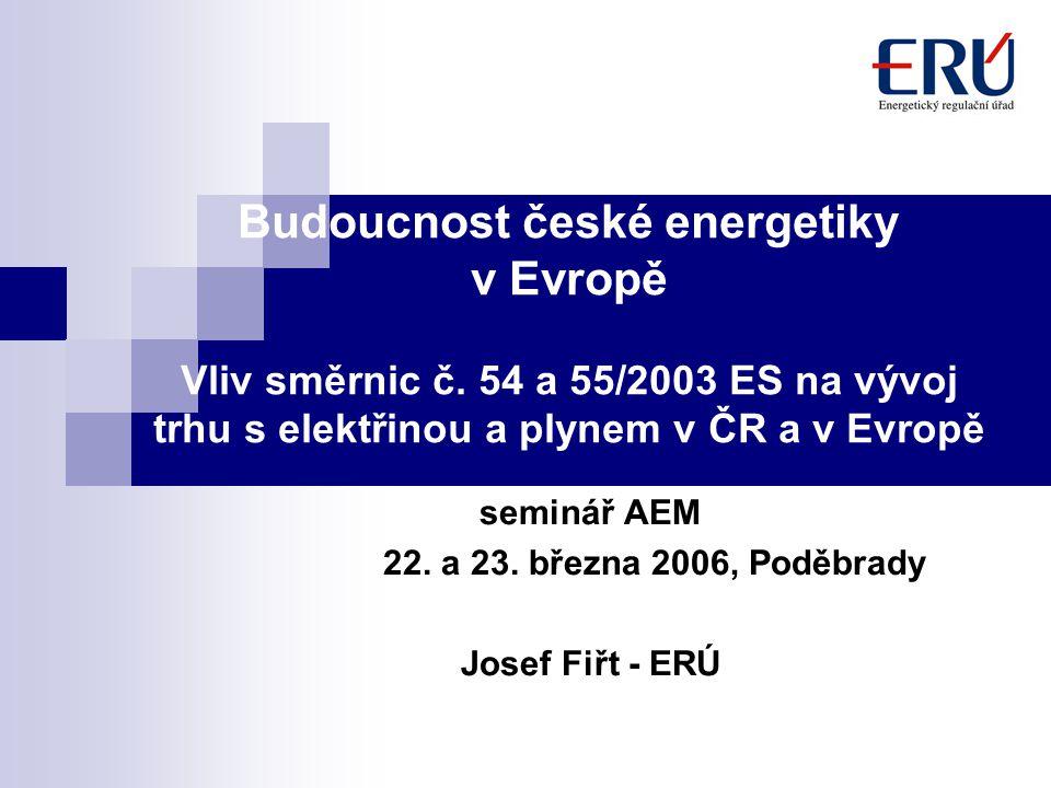 Budoucnost české energetiky v Evropě Vliv směrnic č.