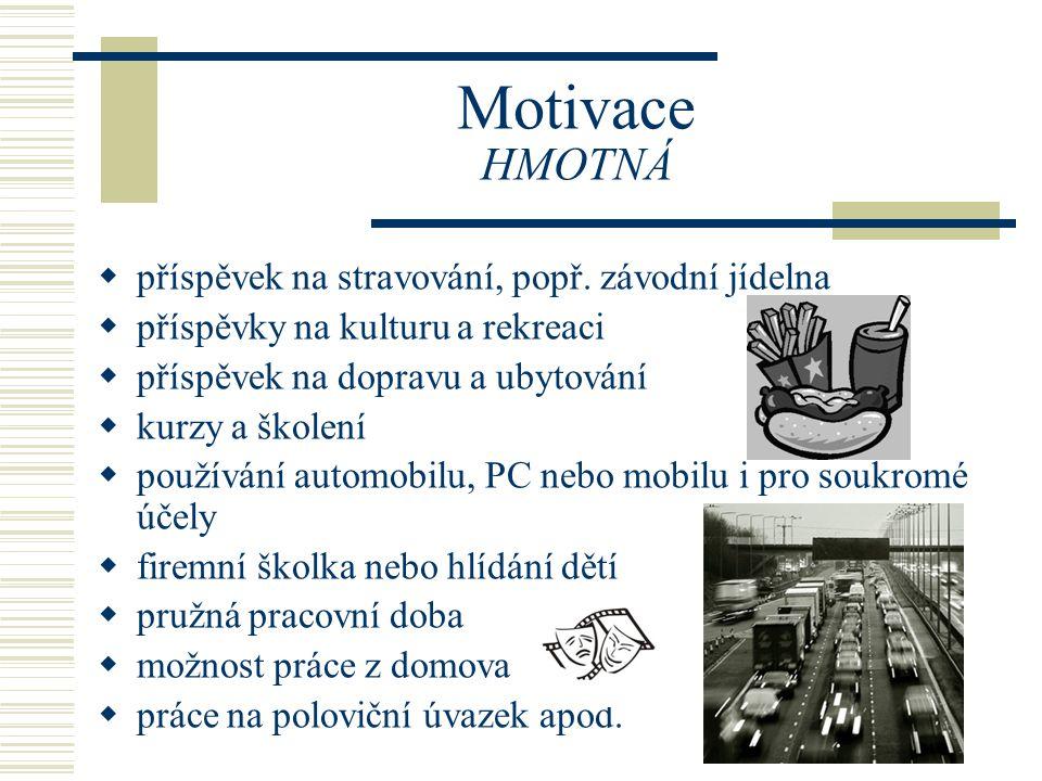 Motivace pozitivní = pochvala - ústní - písemná negativní = kritika - vztek - lítost, stud - agrese, nenávist - pocit méněcennosti … poučit se pro příště Zpětná reakce (vazba) Zpětná reakce (vazba)