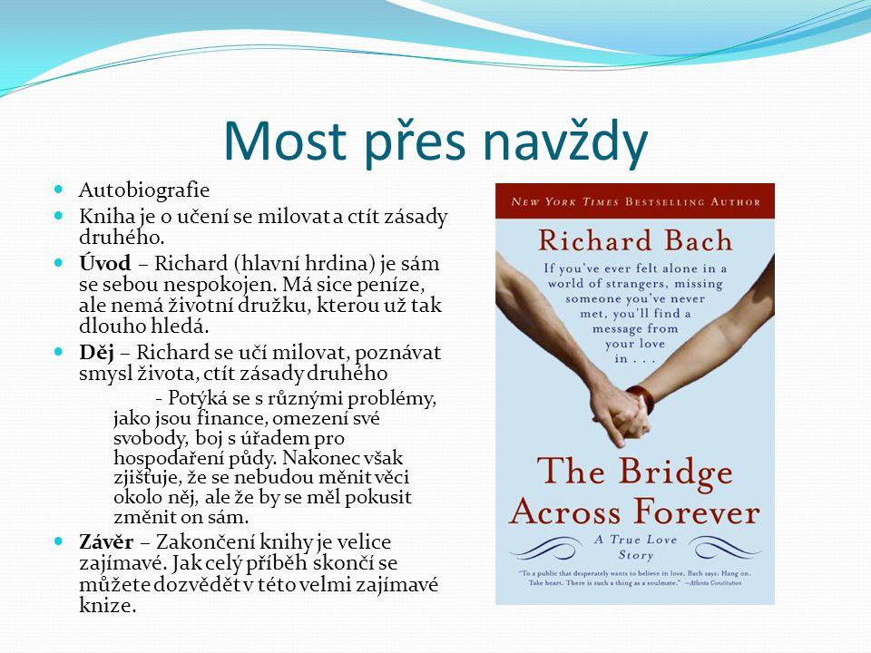 Most přes navždy Autobiografie Kniha je o učení se milovat a ctít zásady druhého. Úvod – Richard (hlavní hrdina) je sám se sebou nespokojen. Má sice p