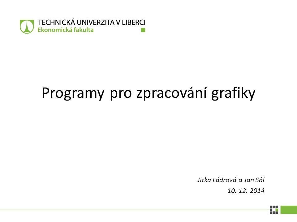 PROGRAMY PRO ZPRACOVÁNÍ GRAFIKY| 10.12.