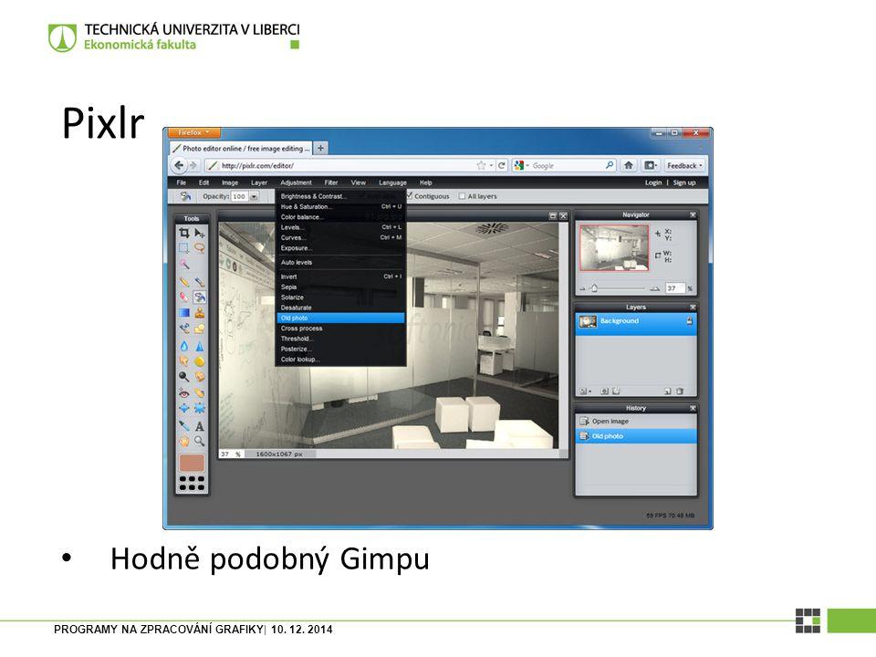Programy pro zpracování grafiky Fotografie