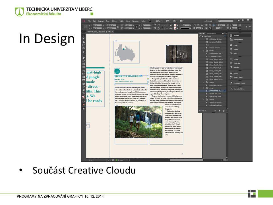 PROGRAMY NA ZPRACOVÁNÍ GRAFIKY| 10. 12. 2014 Scribus OpenSource, nicméně kvalitní