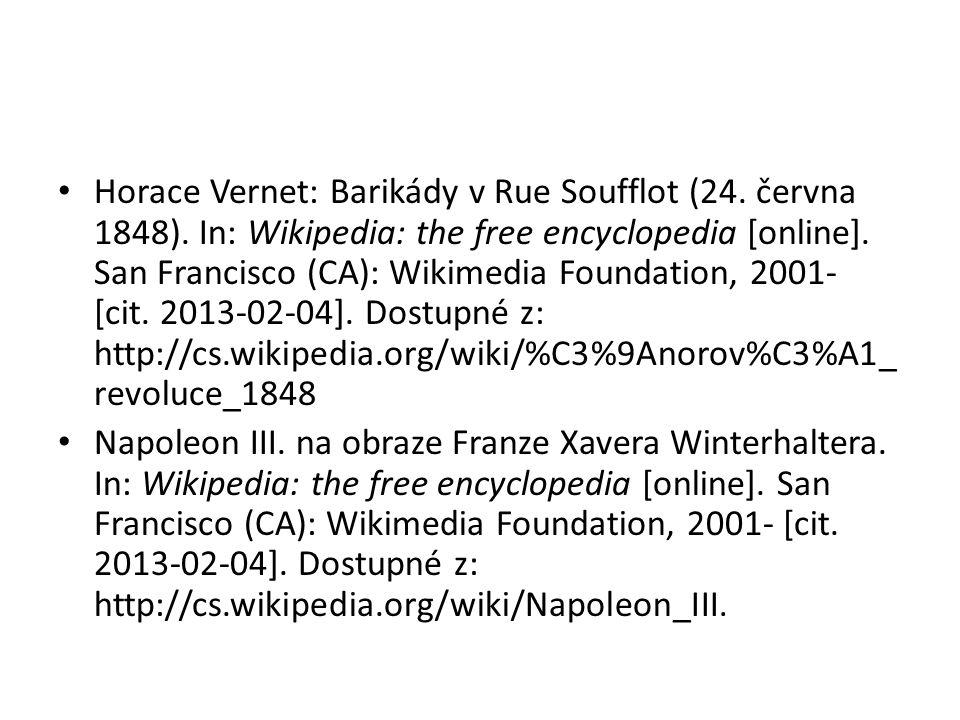 Horace Vernet: Barikády v Rue Soufflot (24. června 1848).