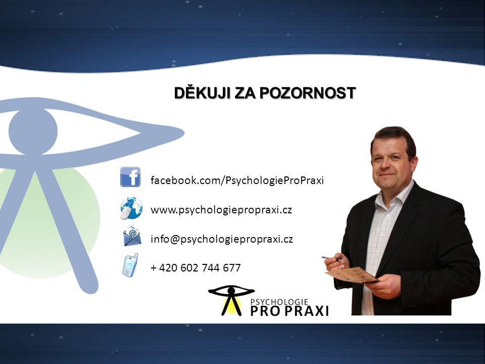 29 facebook.com/PsychologieProPraxi www.psychologiepropraxi.cz info@psychologiepropraxi.cz + 420 602 744 677 DĚKUJI ZA POZORNOST