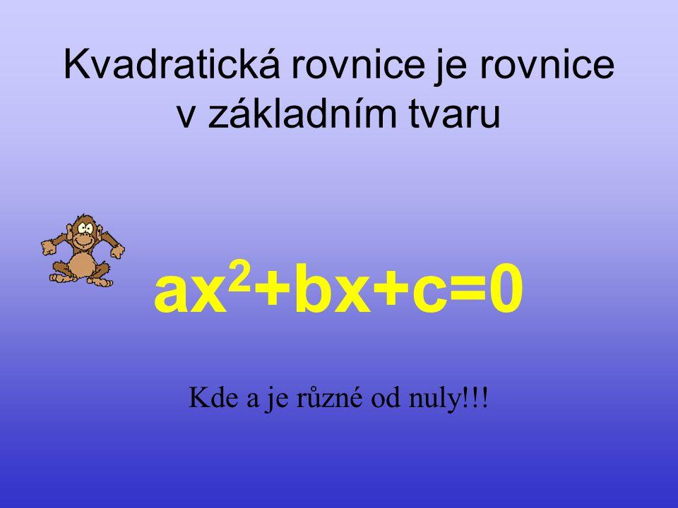 Z historie: Kvadratické rovnice znali již staří Babylóňané. Řešili je pravděpodobně doplněním na druhou mocninu dvojčlenu. Řečtí matematici řešili růz