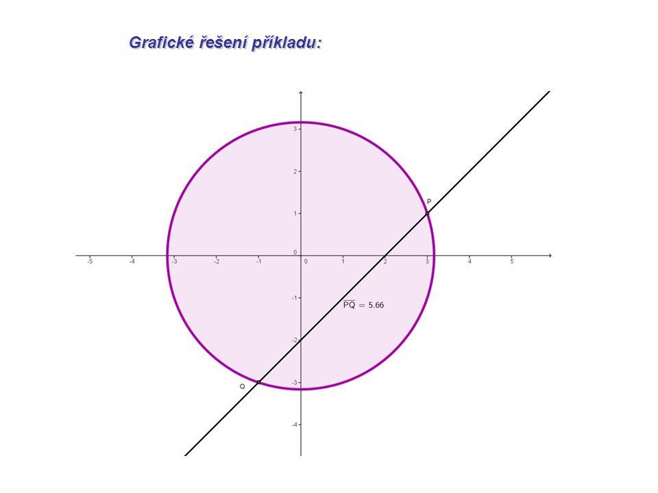 Napište rovnici tečny kuželosečky, která je rovnoběžná s danou přímkou p.