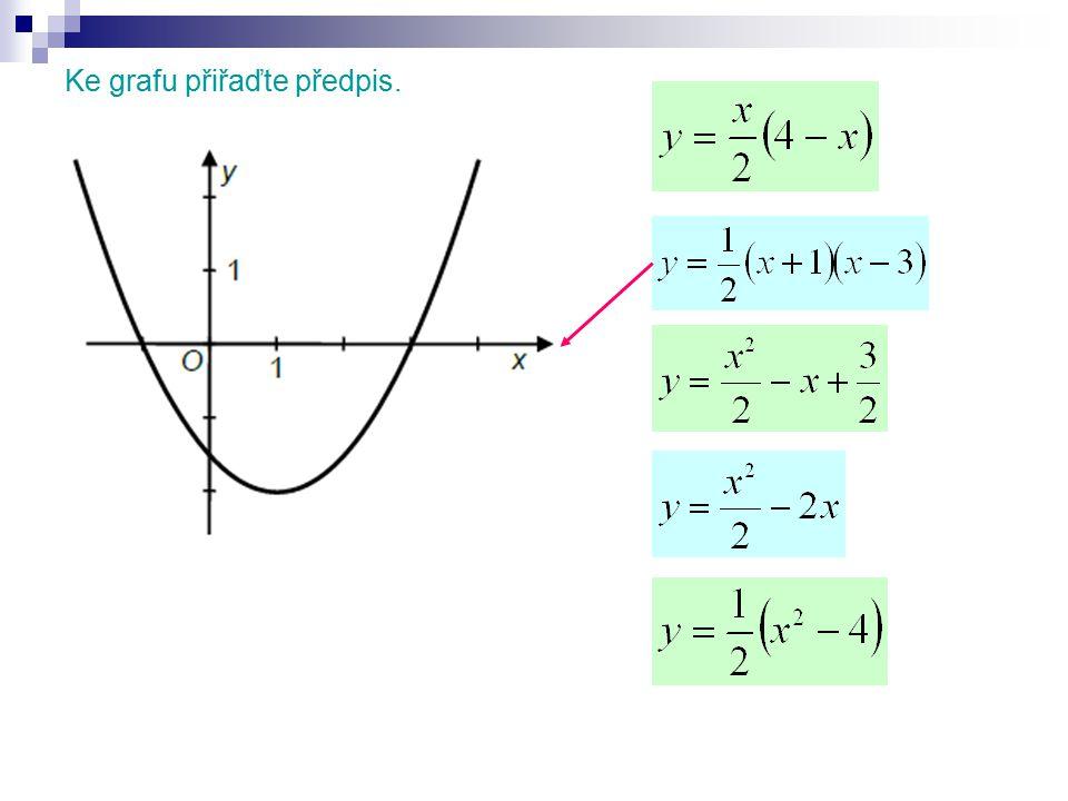 Grafem kvadratické funkce f: y = x 2 – 6x je parabola s vrcholem.