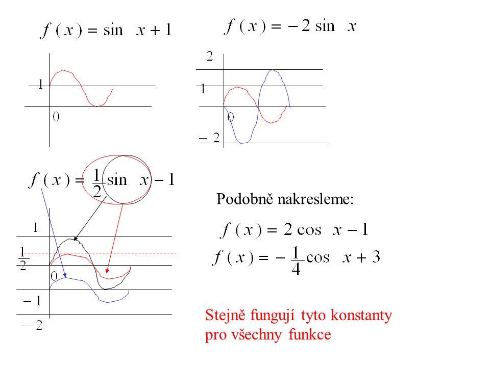 Podobně nakresleme: Stejně fungují tyto konstanty pro všechny funkce
