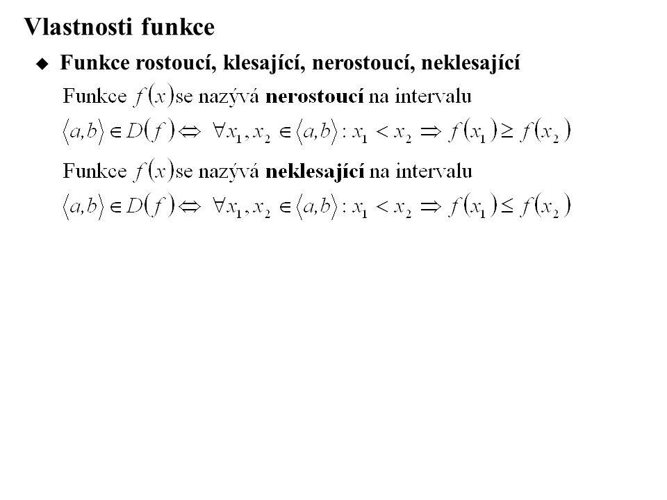 Přehled elementárních funkcí