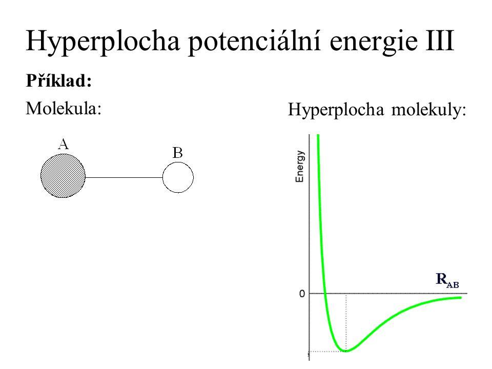 Hyperplocha potenciální energie III Příklad: Molekula: Hyperplocha molekuly: