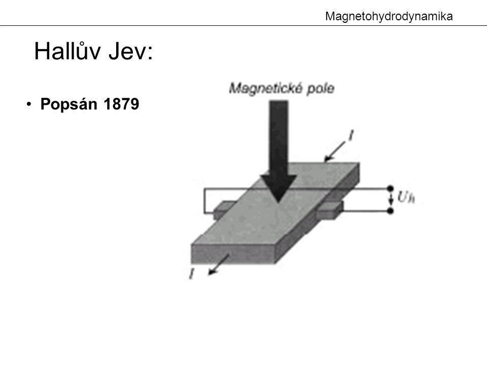 Magnetohydrodynamika Hallův Jev: Popsán 1879
