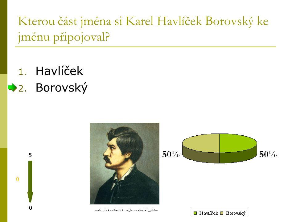 Karel Havlí č ek Borovský Vypracovala: Mgr. V. Sýkorová Použitá literatura: A.