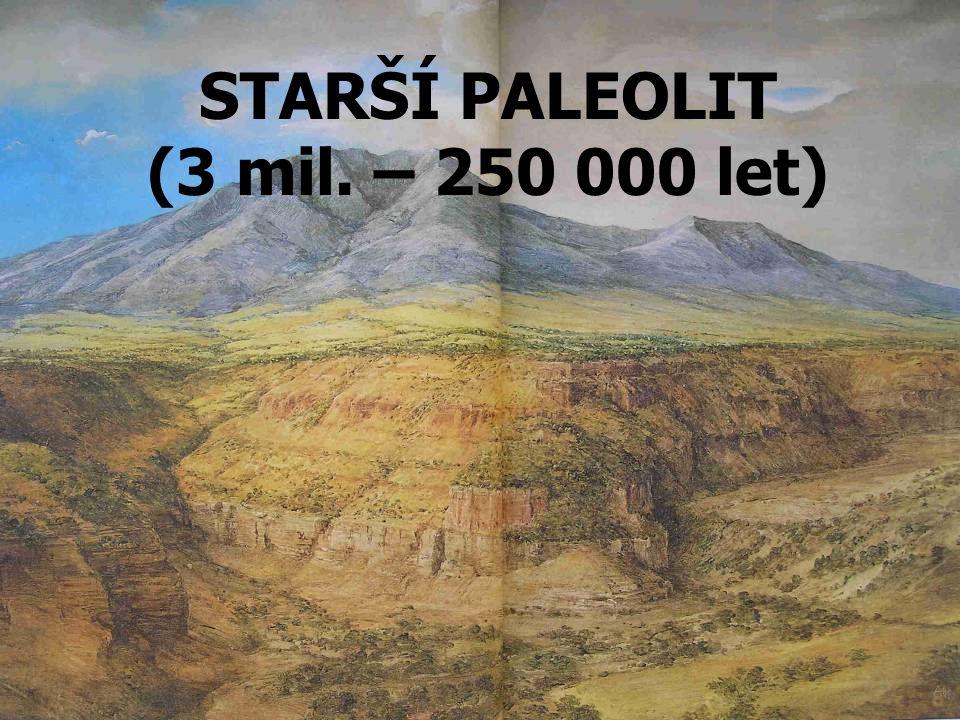 STARŠÍ PALEOLIT (3 mil. – 250 000 let)