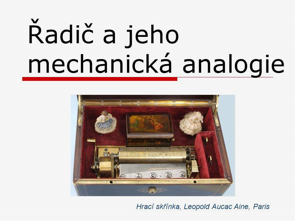 Řadič a jeho mechanická analogie Hrací skřínka, Leopold Aucac Aine, Paris