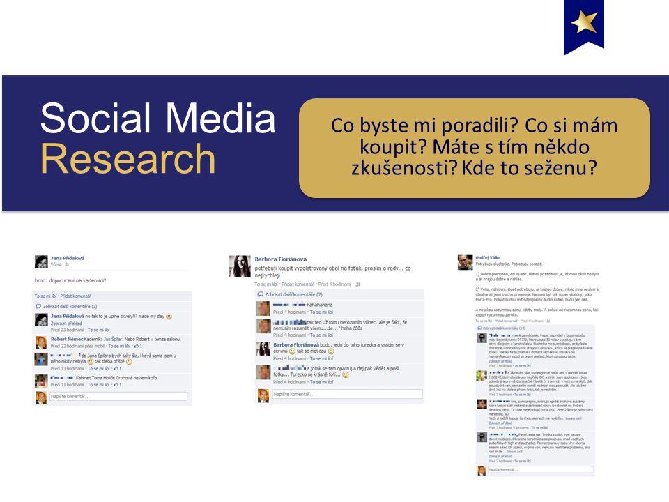 Social Media Research Co byste mi poradili. Co si mám koupit.
