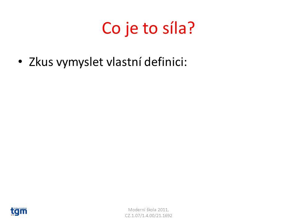 Co je to síla Zkus vymyslet vlastní definici: Moderní škola 2011, CZ.1.07/1.4.00/21.1692