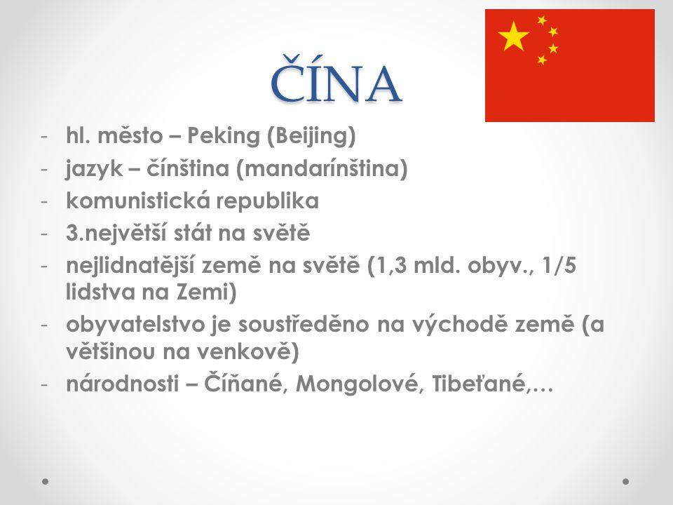 ČÍNA - hl.