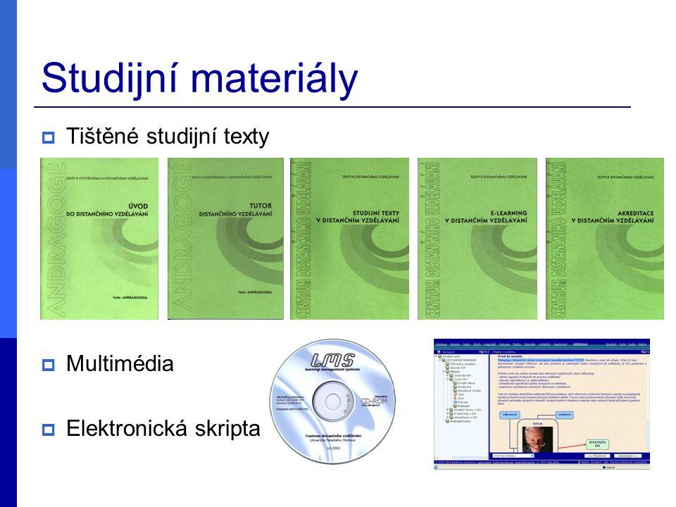 Studijní materiály  Tištěné studijní texty  Multimédia  Elektronická skripta
