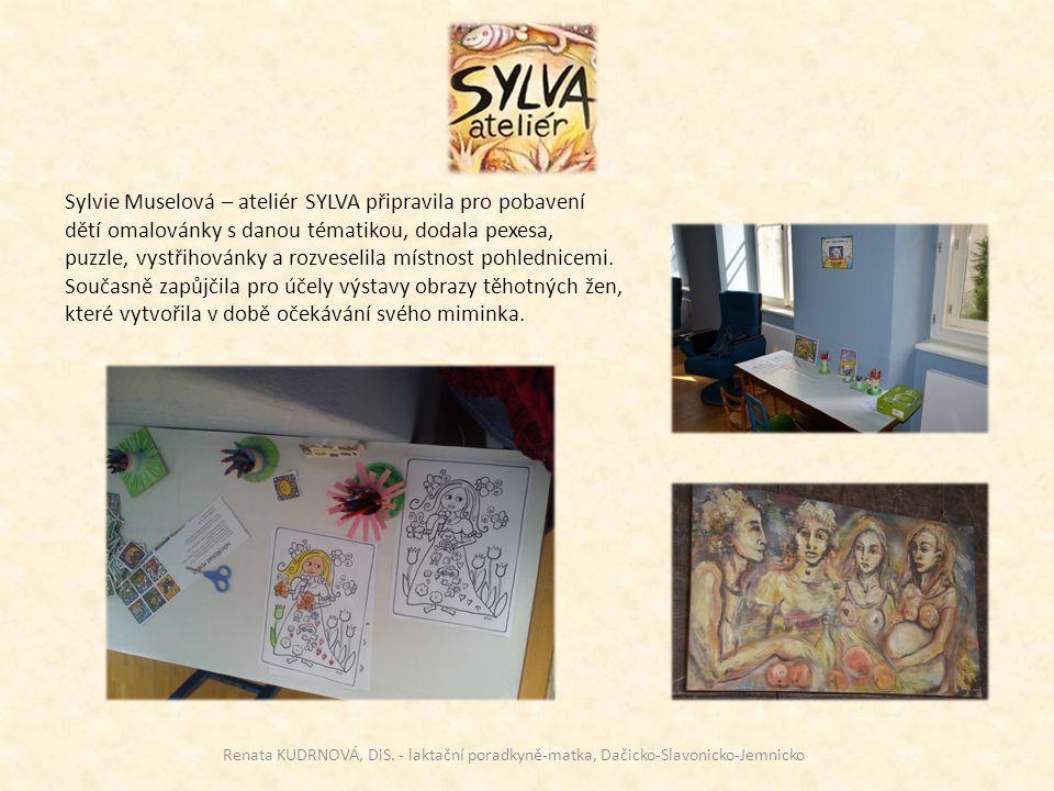 Sylvie Muselová – ateliér SYLVA připravila pro pobavení dětí omalovánky s danou tématikou, dodala pexesa, puzzle, vystřihovánky a rozveselila místnost pohlednicemi.