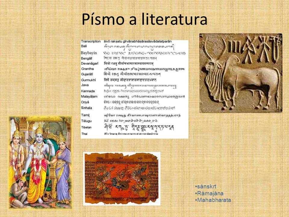 Písmo a literatura sánskrt Rámajána Mahabharata