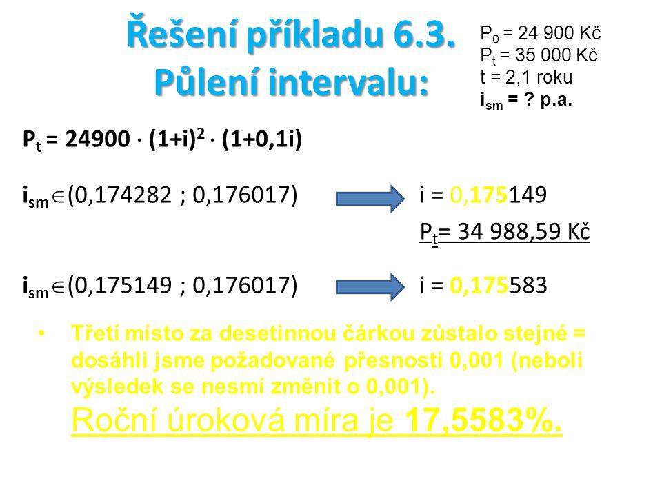Řešení příkladu 6.3.